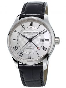 Frederique Constant Classics Index GMT (FC-350MC5B6) Stainless Steel case with Black Leather Strap